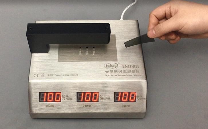 透明不规则材料的透过率检测