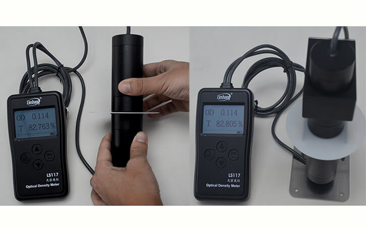 LS117透光率测试仪测乳白PC材料