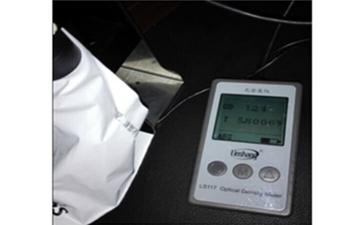 LS117透光率仪的检测结果