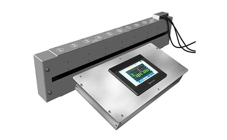 真空镀铝膜在线检测均匀性的方法