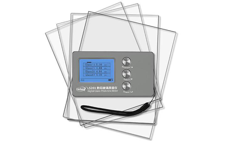 测量钢化玻璃专用的数码玻璃厚度仪