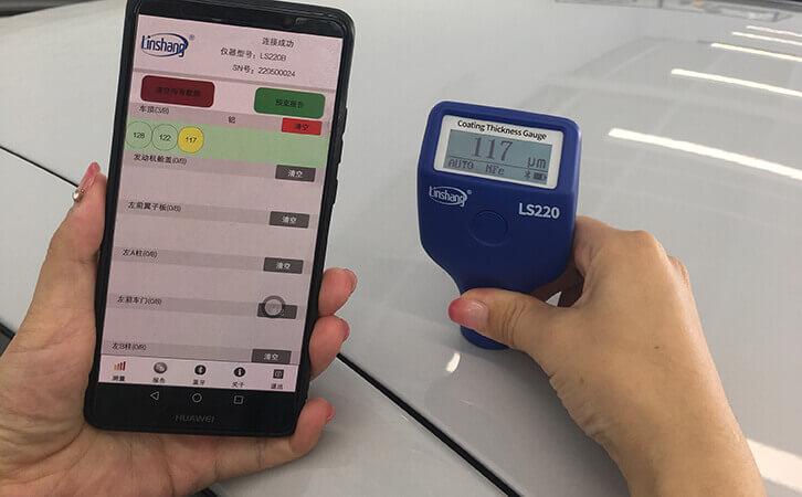汽车漆膜仪测量汽车