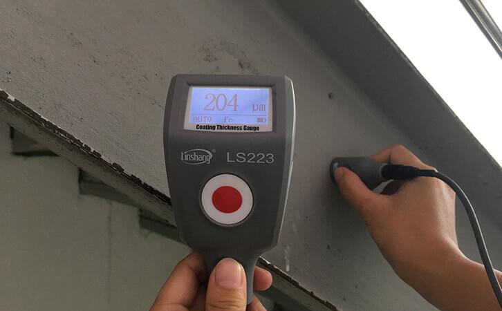涂层测厚仪LS223测试钢结构防火涂层