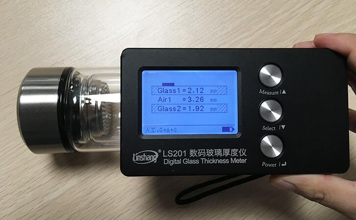 中空玻璃厚度检测仪测试玻璃瓶的厚度