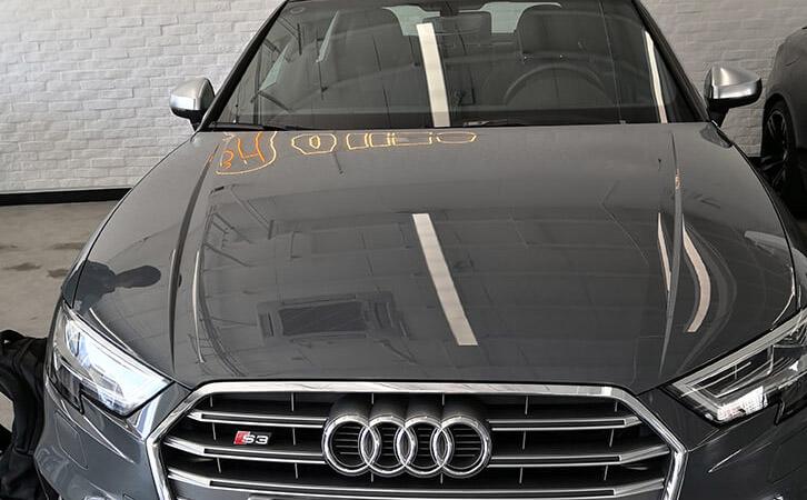汽车漆面检测仪测试奥迪S3漆面厚度