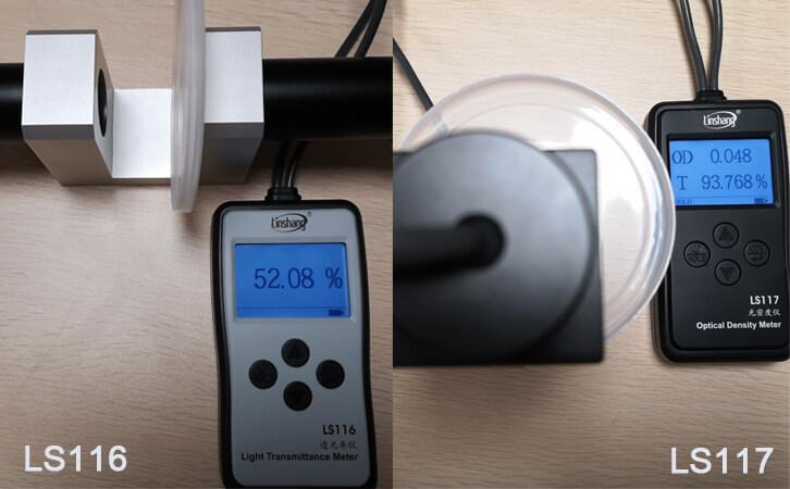 透光率测试仪对比测试