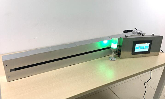 厦门玉通光电又一次定制非接触式在线膜厚测试仪