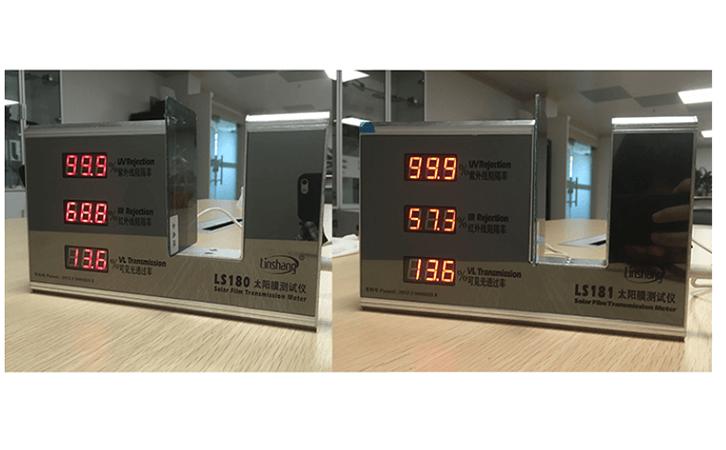 太阳膜测试仪LS180和LS181测试贴膜玻璃有什么不同?