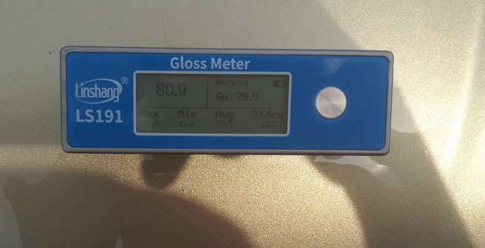 光泽度仪测量汽车漆面