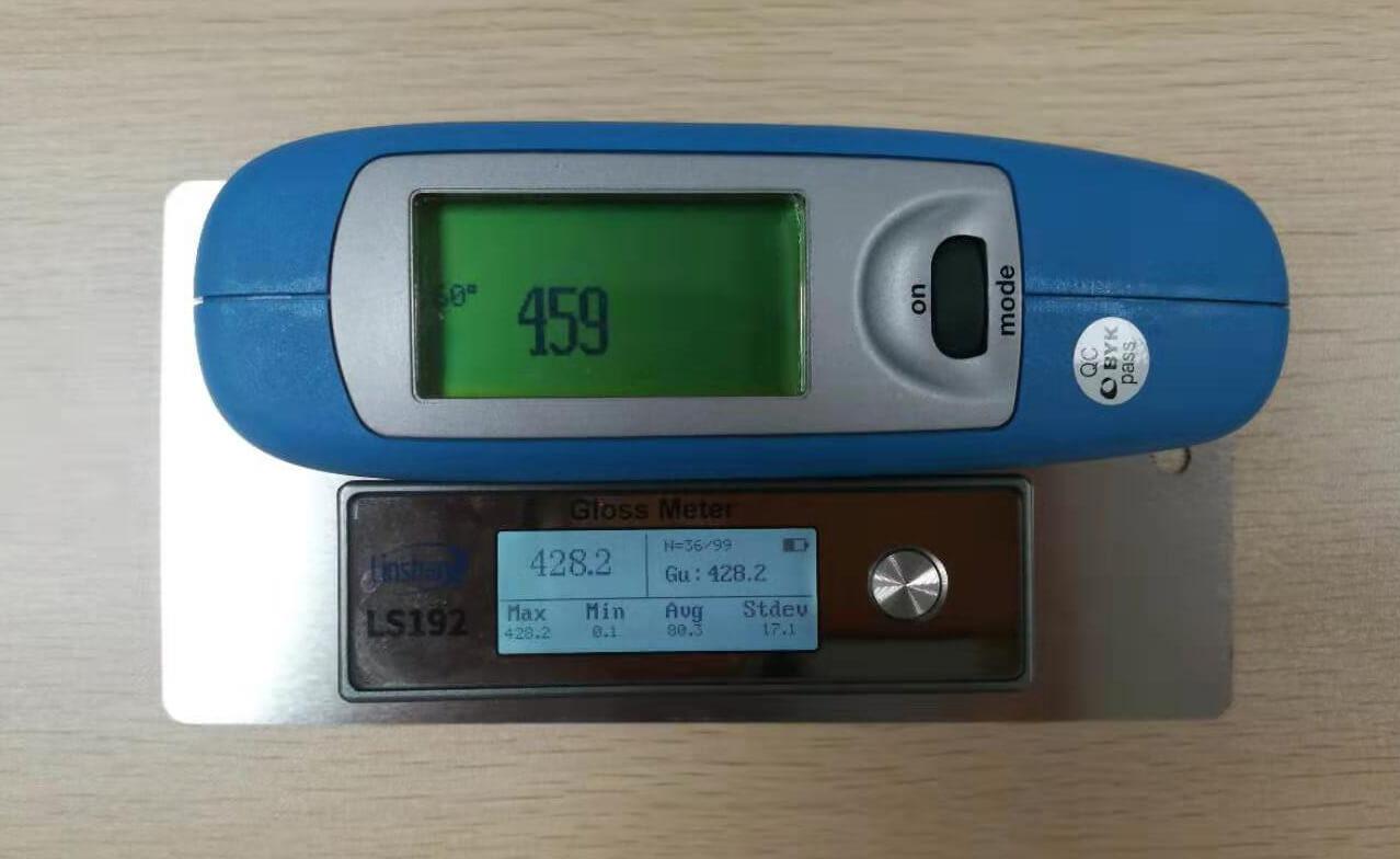 光泽度测试仪测试铝材