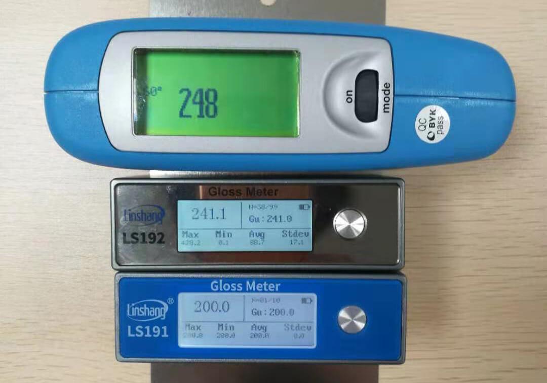 光泽度仪测试数据对比
