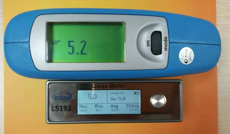 光泽度测试仪对比测试