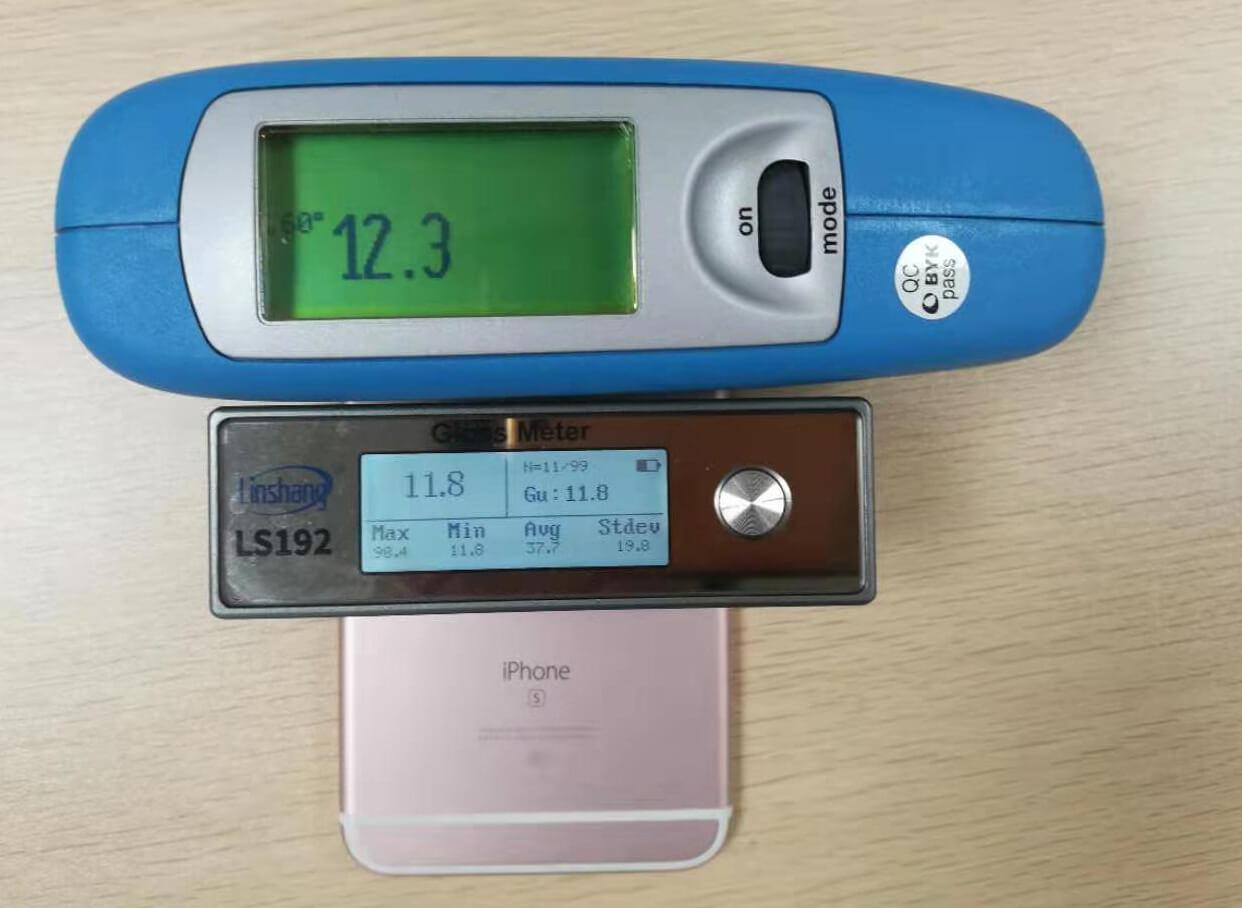 光泽度测试仪测手机