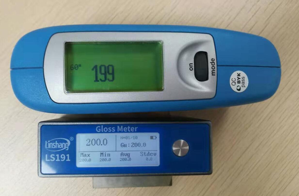 光泽度仪对比测试
