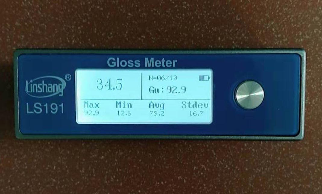 大理石光泽度仪测量数据