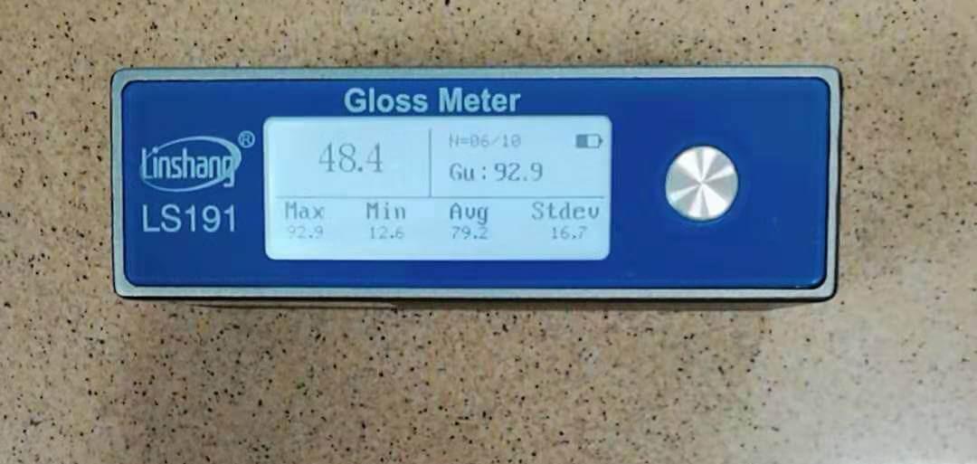 便携式光泽度计测量大理石