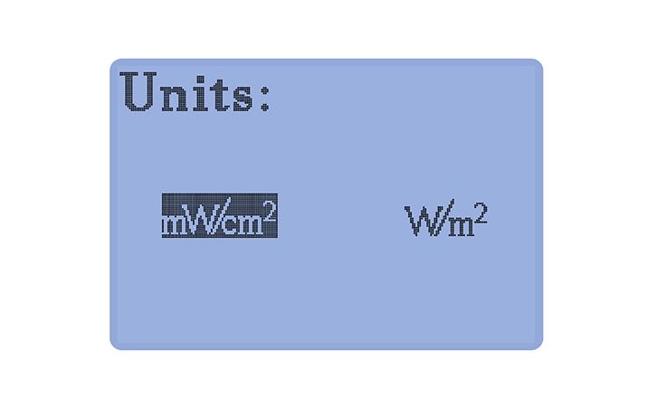 紫外线辐射照度计UVA探头单位选择