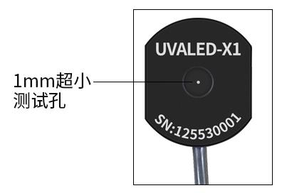 UVALED-X1探头测量孔径展示