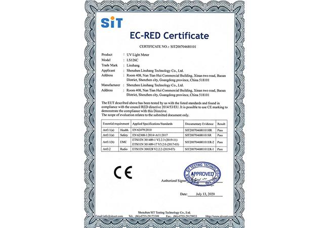 LS126C紫外辐照计CE证书