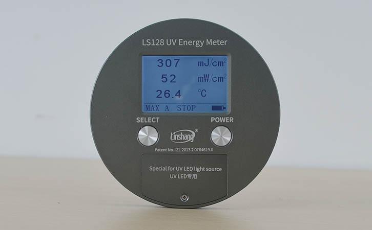 UV能量计测量数据显示