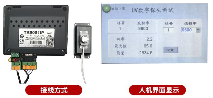 LS129紫外线数字探头人机界面连接显示