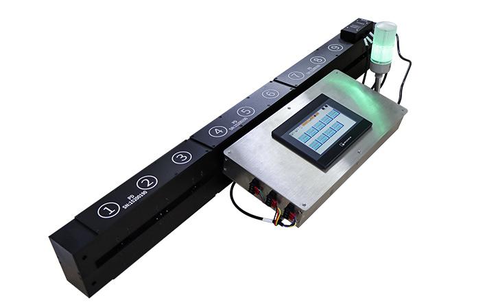 10组测试点的真空镀膜在线测厚仪外观展示
