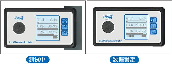 LS160便携式三波段测试仪数据锁定功能展示