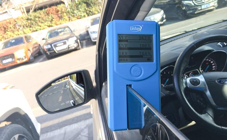LS163A隔热膜测试仪测试汽车侧挡
