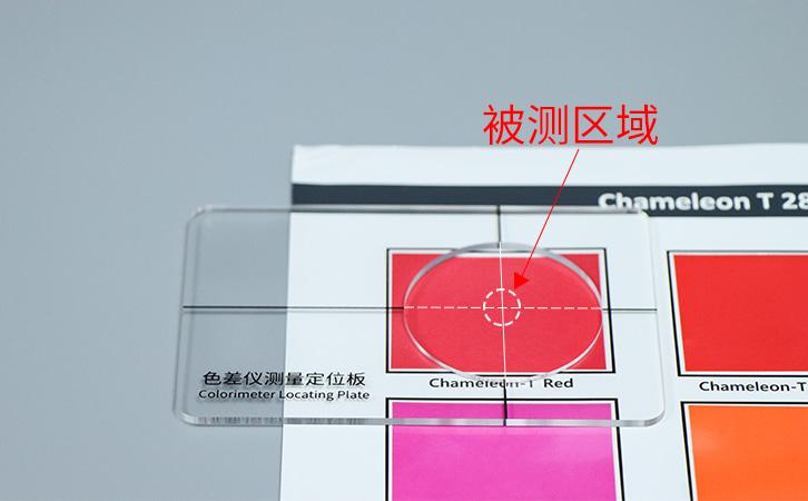 定位板测量区域