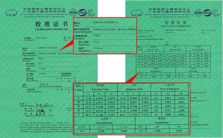 LS173校准证书