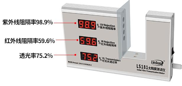紫外线阻隔率、红外线阻隔率及透光率