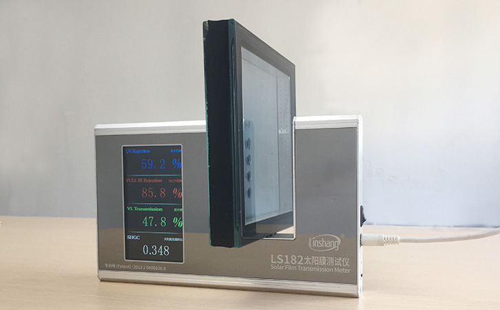 太阳膜测试仪测试贴膜玻璃