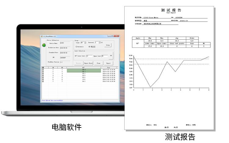 LS192光泽度测试仪软件功能展示