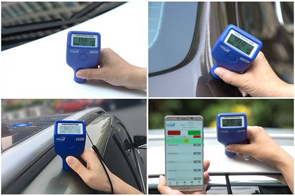LS220B漆膜测厚仪测试汽车漆面厚度