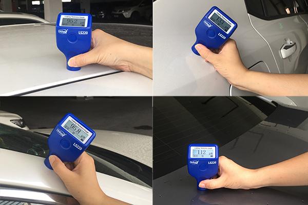 LS220漆膜仪测试汽车