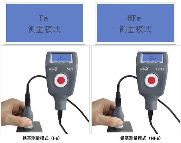 分离式设计的LS223+F3N3油漆厚度测量仪