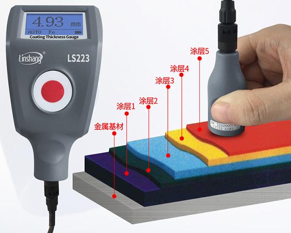 LS223+F5N3涂层测厚仪测大厚度涂层