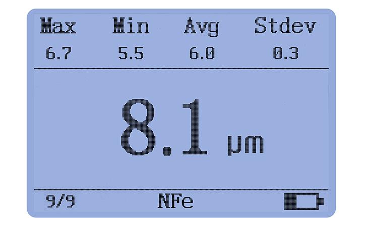 LS225+N1500涡流测厚仪测量界面