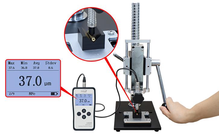 涡流测厚仪测异型或者小尺寸材料