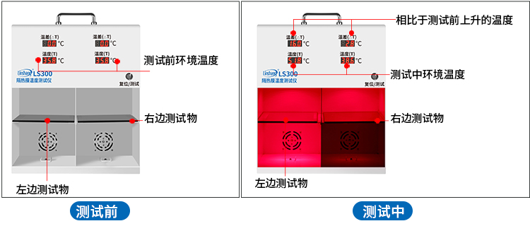 LS300隔热膜温度测试仪测试过程演示
