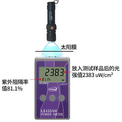 紫外功率计测试紫外线阻隔率