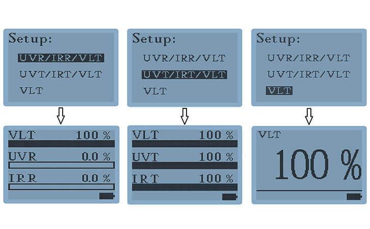 隔热膜测试仪LS163A模式显示界面