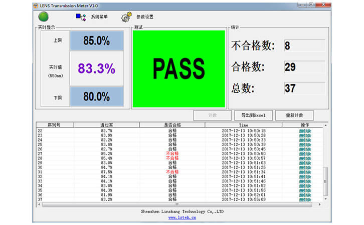 测试PASS界面