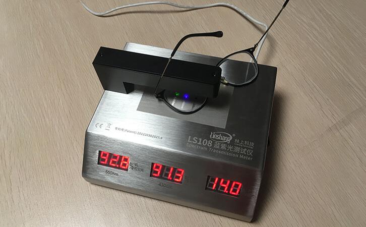 蓝紫光测试仪测试眼镜