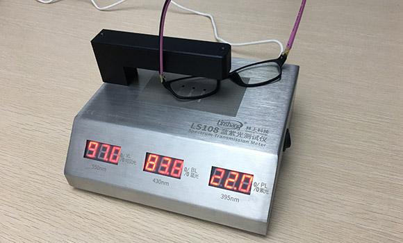 透过率仪LS108测量眼镜