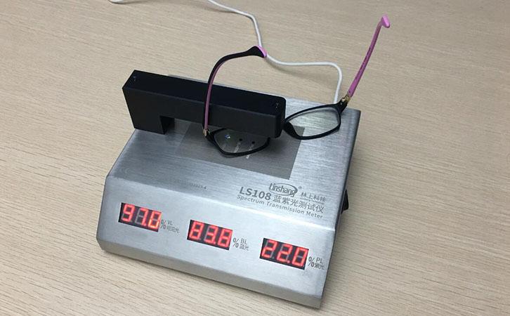 眼镜片防蓝光检测,用抗蓝光镜片测试仪!