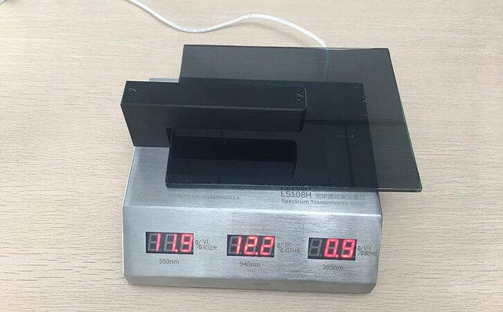 LS108H光学透过率测量仪测量贴膜玻璃