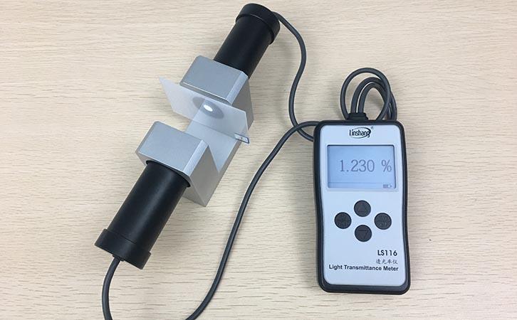 透光率测试仪测量材料透光率