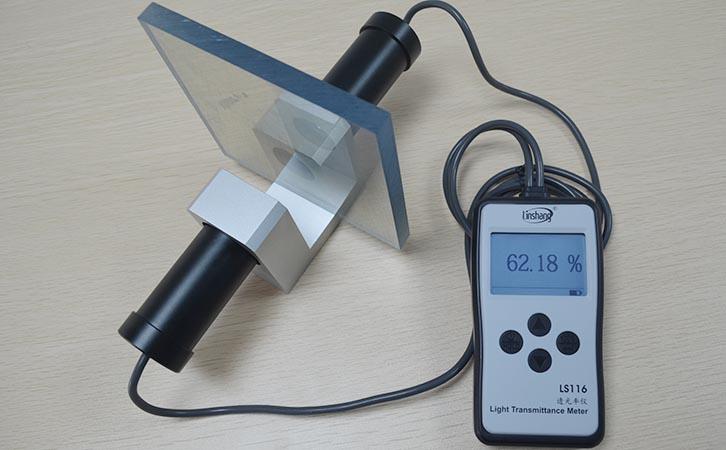 透光率仪测量亚克力材料透光率
