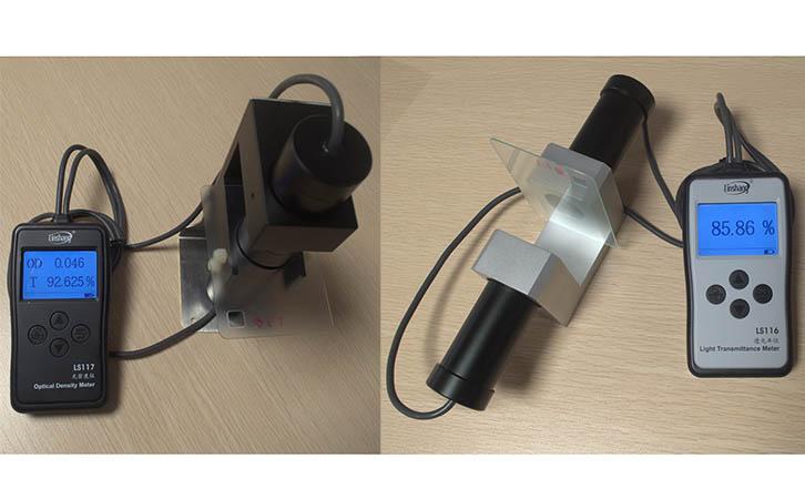 LS117和LS116测试同一块磨砂玻璃